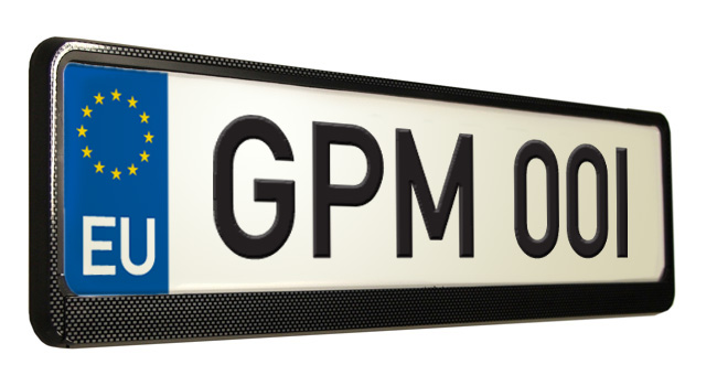 sc 1 st  Great Plate Mate Number Plate Surrounds Number Plate Frames Car ... & Carbon Fibre Number Plate Surround Carbon Fibre Effect